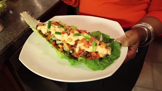 10. Keto Fiesta Taco Boats W/Homemade Cheese Sauce
