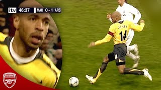 "Watch thierry henry destroy real madrid at the bernabeu in 2006. i put together some rare pitch side angles from ""goal 2"" movie with actual broadcast foo..."