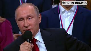 Путин о полетах в дальний космос.  Намек на то что США не были на Луне.