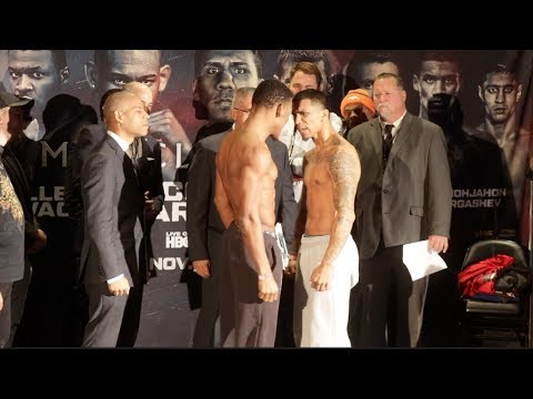 HEATED WORDS EXCHANGED!! DANNY JACOBS v LUIS ARIAS   WEIGH IN & HEAD TO HEAD