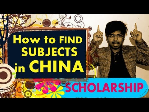 How to FIND PROGRAMS for SCHOLARSHIP in CHINA | Scholarship | Episode 3 | Study in China