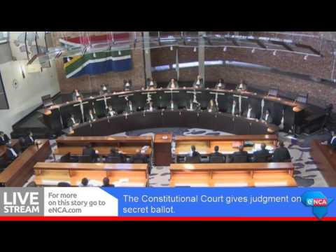 Constitutional Court gives judgment on secret ballot