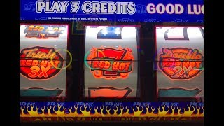 Akafuji Slot★Live Jackpot Again★Handpay Triple Double Red Hot Sevens $2 Slot, Cosmopolitan Las Vegas