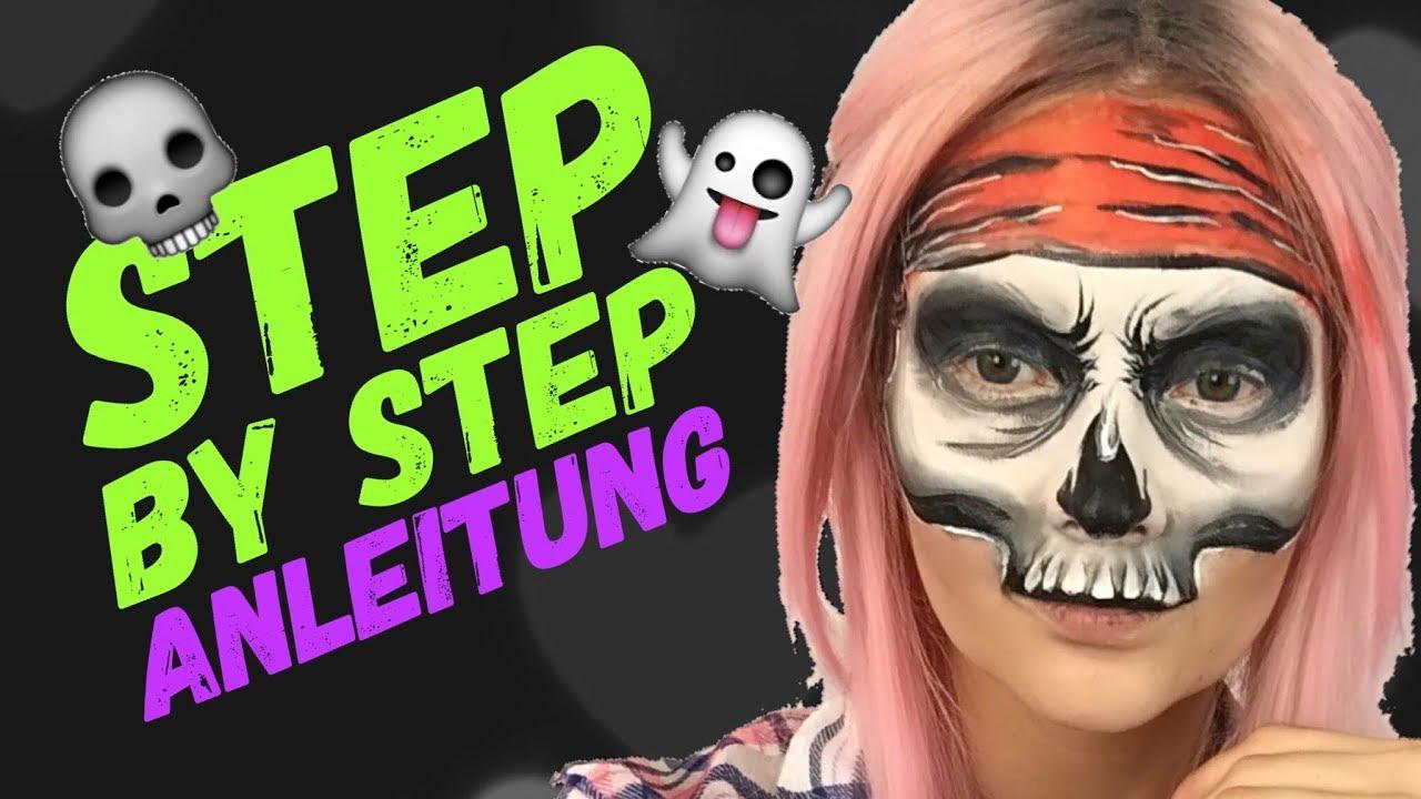 Halloween Schminken Deutsch.Totenkopf Schminken Totenkopf Anleitung Deutsch Skull Halloween Make Up Kittycat S Paintbox