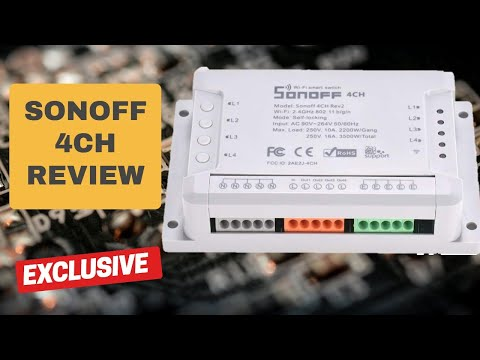 Sonoff 4CH Review - 4 Channel Din Rail Mounting WiFi Switch