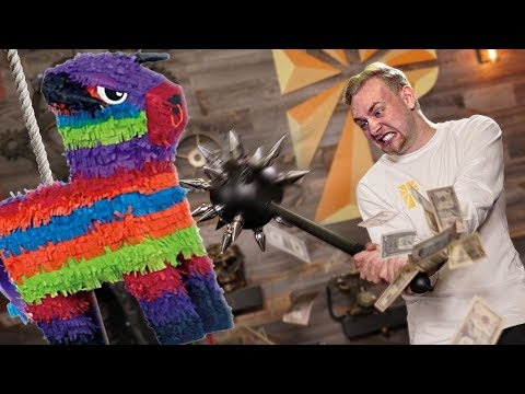 $20,000 Filled Indestructible Piñata VS. Spiked Mace