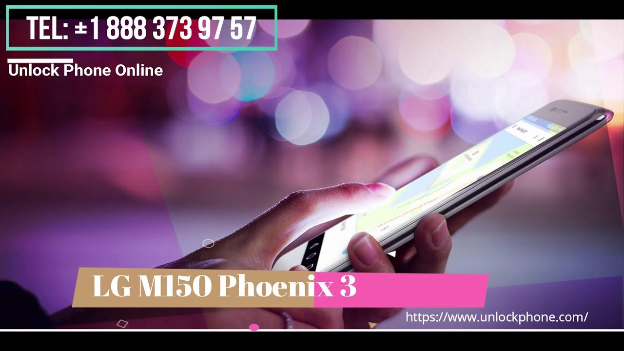 Cómo desbloquear LG M150 Phoenix 3