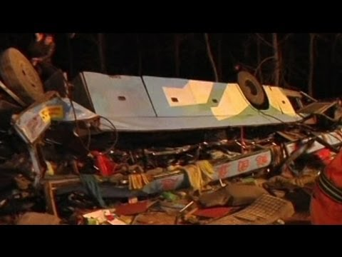bus-crashes-off-bridge-killing-14-in-hubei,-china
