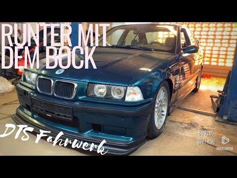 BMW E36 Limo | Der Cousin Des KW V1 / DTS Gewindefahrwerk Die Limo Kommt Runter - Limo Projekt #24