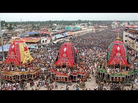 Jagannath Rath Yatra is being celebrated with traditionalgaiety and fervour