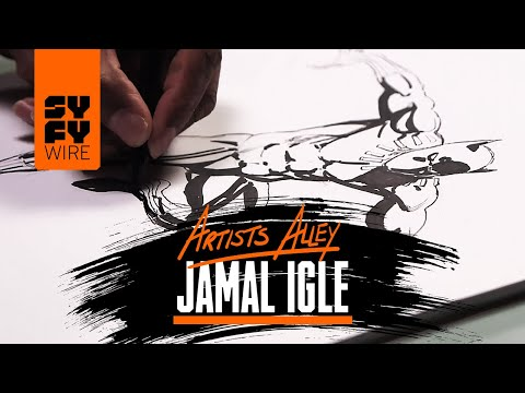 Jamal Igle Sketches Black Panther (Artists Alley) | SYFY WIRE