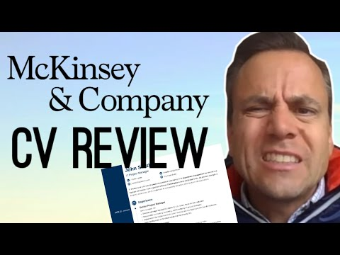 CV Review By McKinsey Principal
