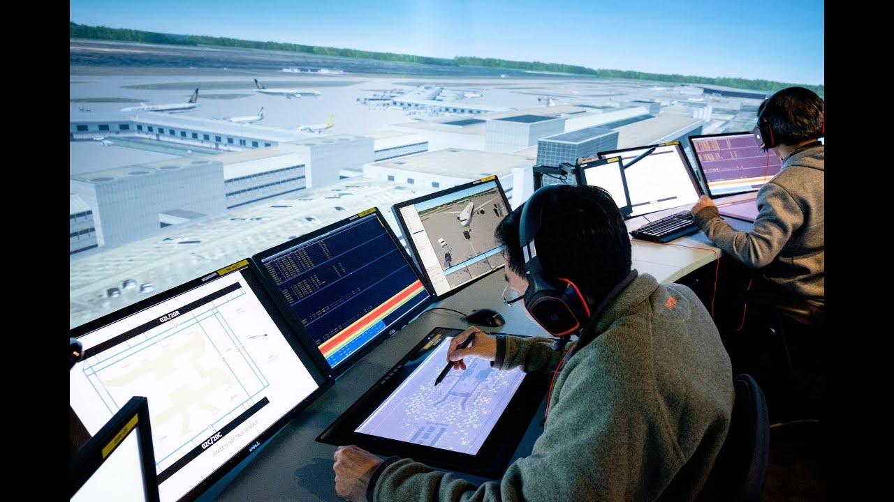 360-degree air traffic control tower simulator at NTU Singapore