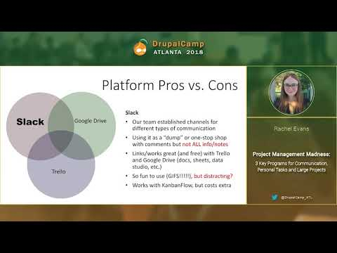 DCATL 2018 -  Project Management Madness  - Rachel Evans on YouTube