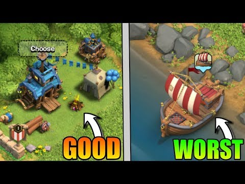 CLASH OF CLANS BEST UPDATE VS WORST UPDATE | UPDATE COMPARISONS