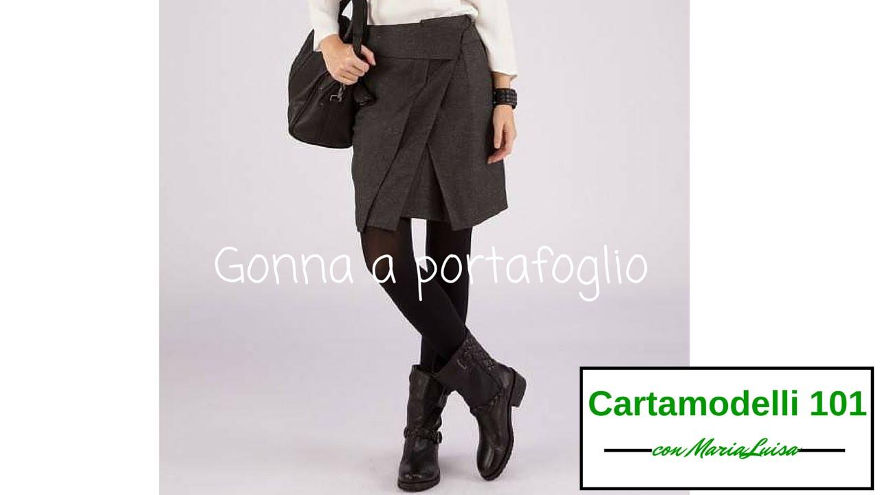 in vendita 56d32 5cc35 Gonna a portafoglio - Cartamodelli 101 con Maria Luisa