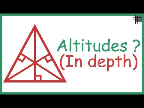 What are Altitudes in a Triangle? (In depth)