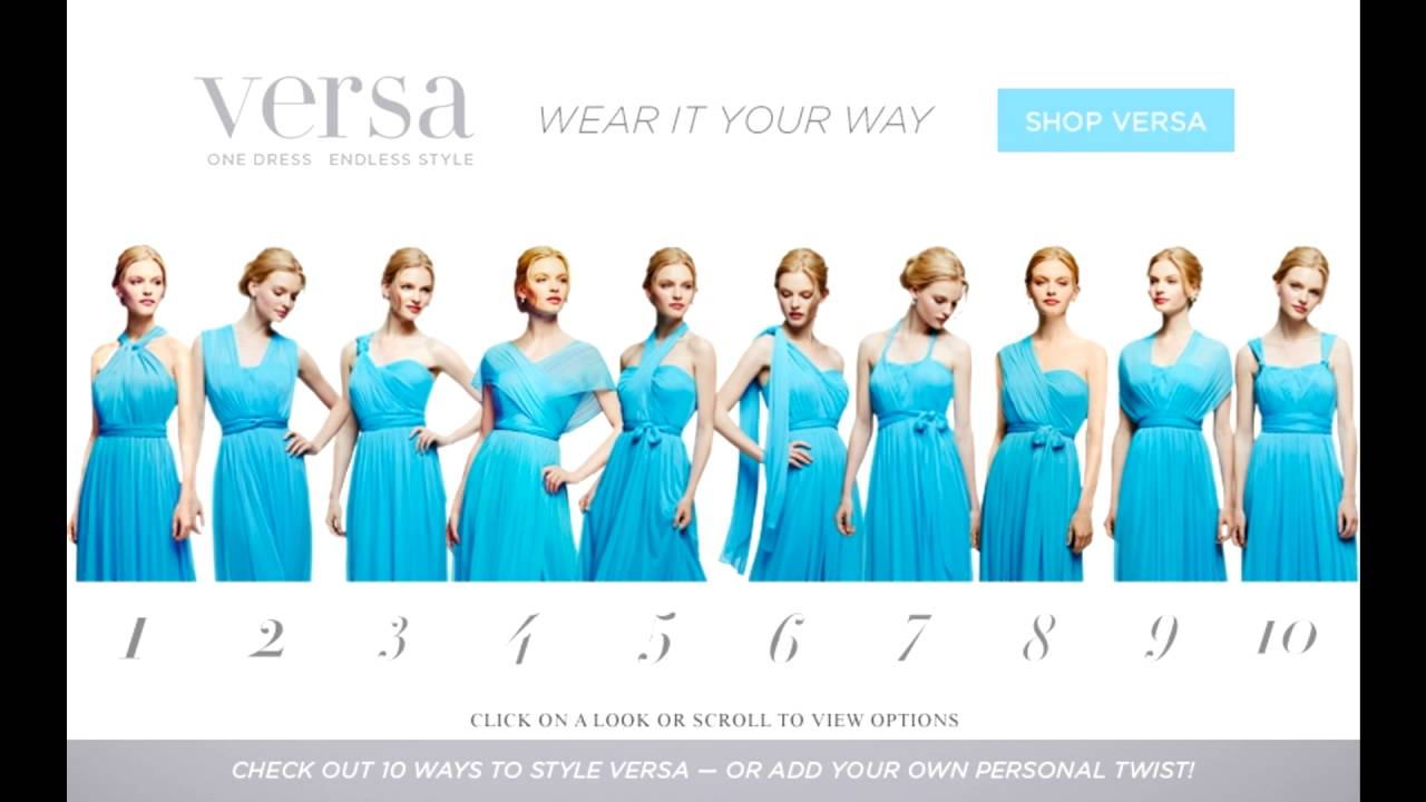 David\'s bridal versa bridesmaid dress 1 - YouTube