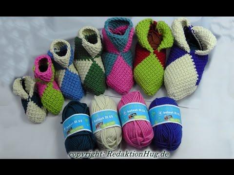 Tunesisch Häkeln Puschen In Jeder Größe Hatnut Wolle Veronika