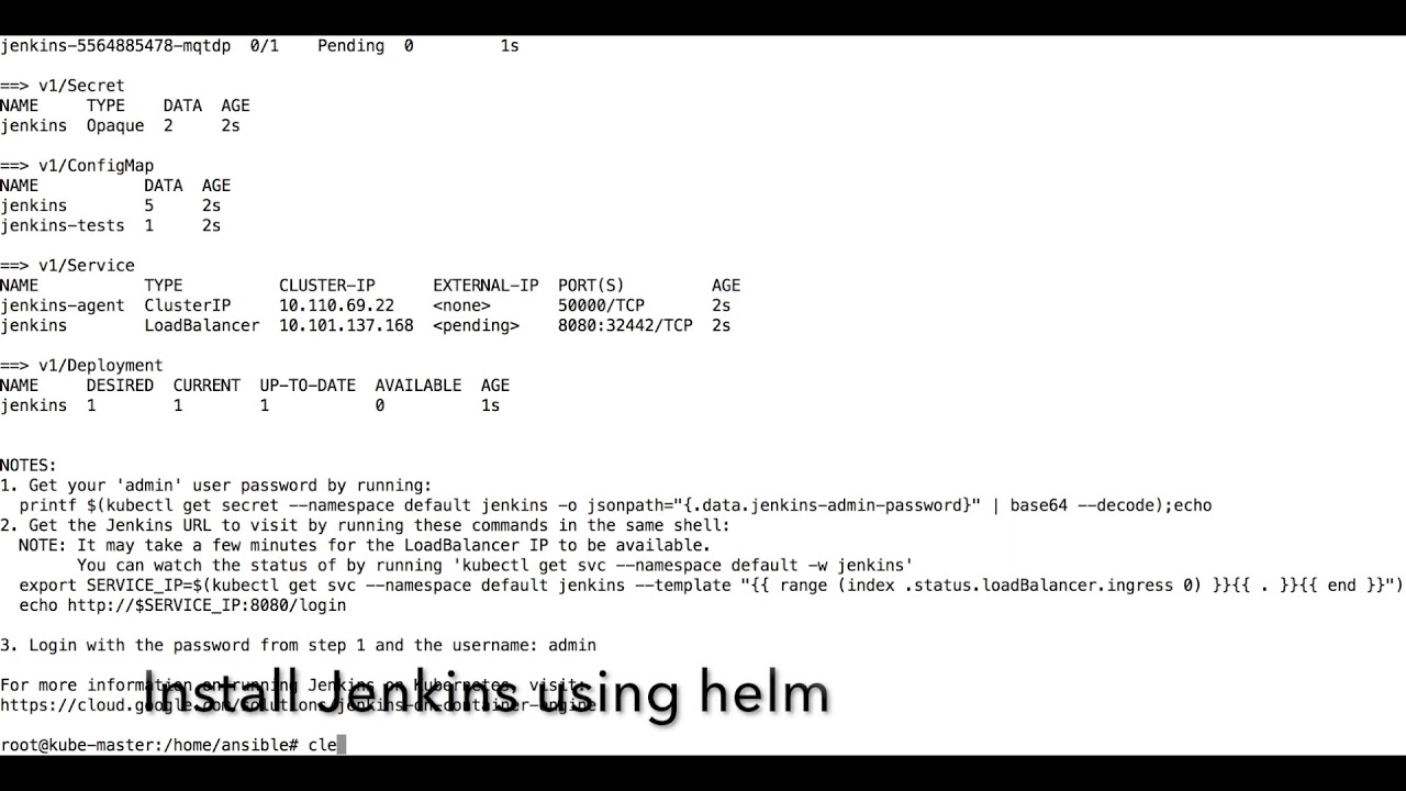 How to install jenkins in kubernetes helm