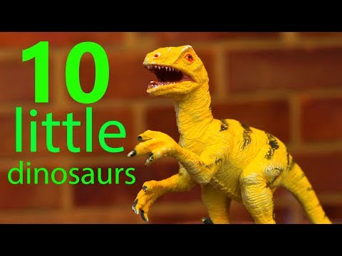 10 Little Dinosaurs Song - Learn Numbers and Singalong with the Dinosaur Toys and Puppets!