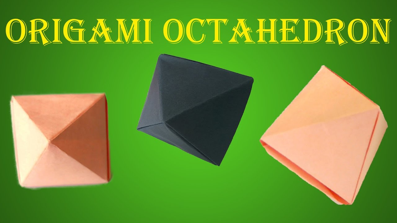 How To Make Origami Seamless Octahedron DIY Paper