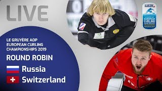 Russia v Switzerland - Men's round robin - Le Gruyère AOP European Curling Championships 2019