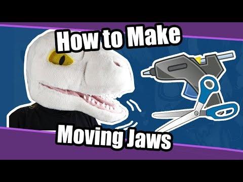 //Tutorial #44// Moving Jaw on Foam Fursuit Heads