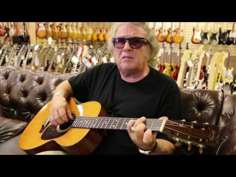 Don McLean (American Pie) playing a 1954 Martin 00-21 at Norman's Rare Guitars