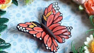 Quilled Flower Wreath Part 4: Quilled butterfly / DIY butterfly