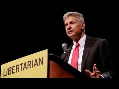 Supporters protest Gary Johnson