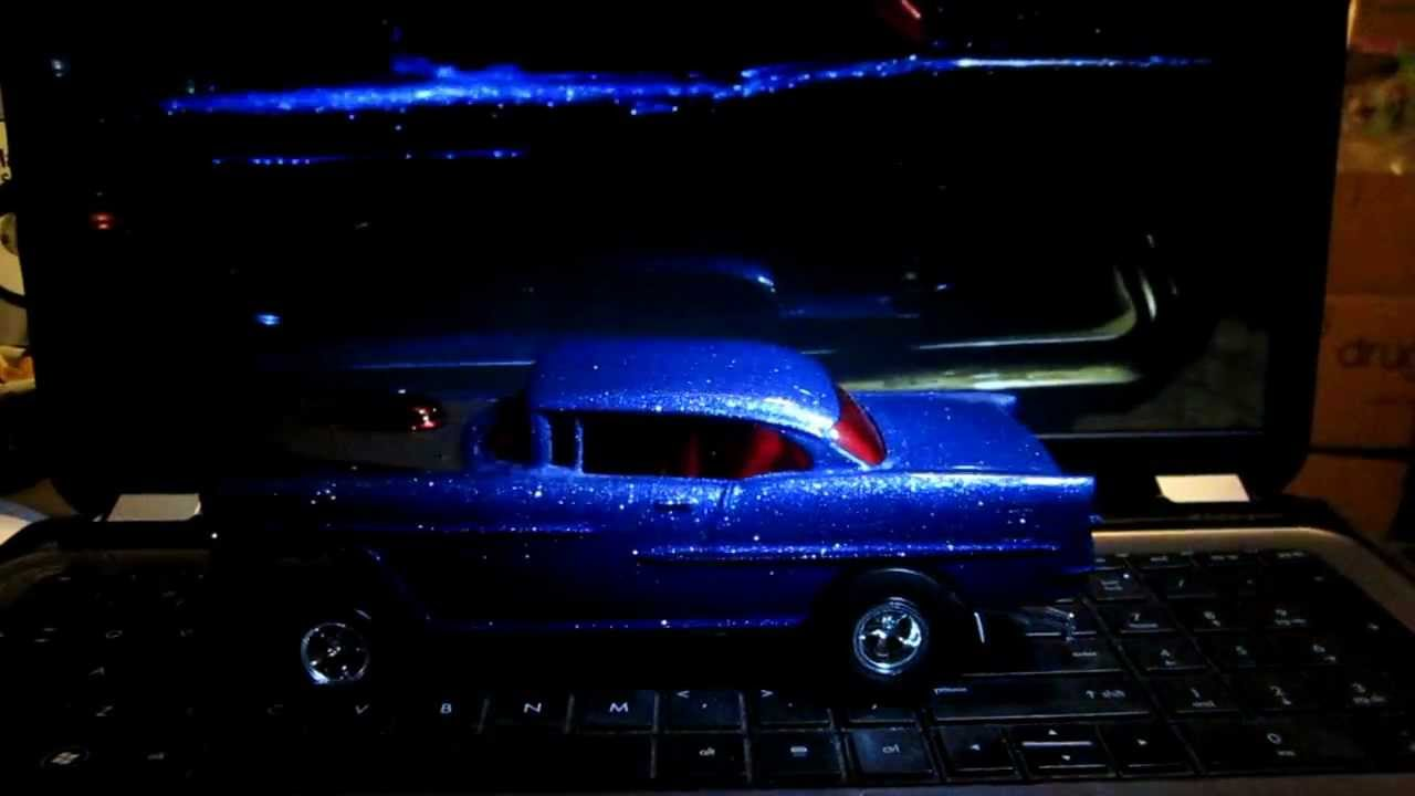 Metal Flake Blue Car Paint