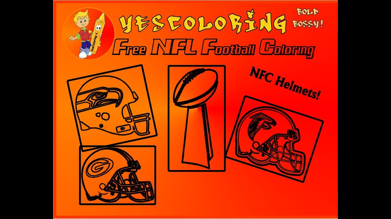 Bold Bossy Football Helmet Coloring Pages\
