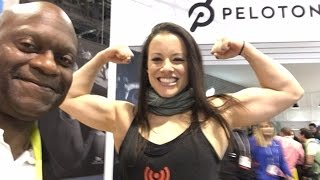 Leah Christiana Talks Raiderettes Shows Supergirl Biceps At CES 2017 @CES2017