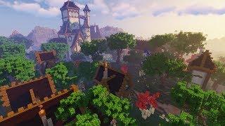 Woodland Mansion & Village Fantasy medieval Build Timelapse Minecraft 1 14 YouTube