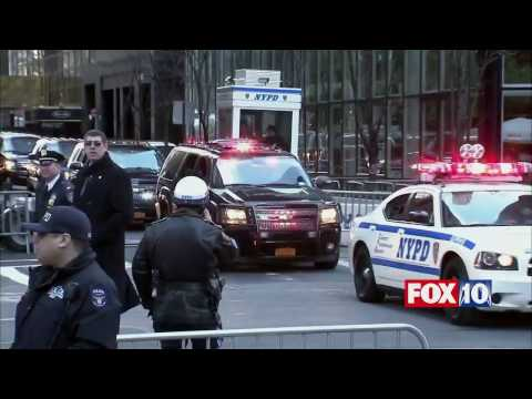 IT'S OFFICIAL: Donald Trump Leaves Trump Tower in NYC, En Route to Inauguration in D.C.