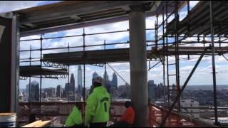 Cantilever Scaffold, 28 floors up, 3601 Market St., Philadelphia, PA