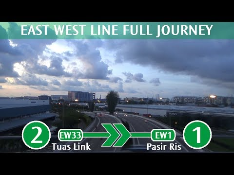 SMRT East West Line Full Journey - EW33 Tuas Link → EW1 Pasir Ris