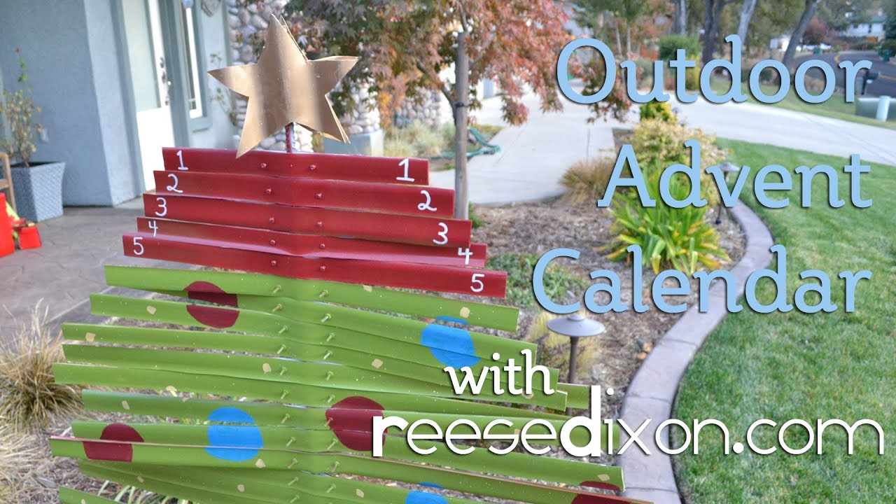 Christmas crafts outdoor advent calendar diy youtube for Easy to make garden decorations