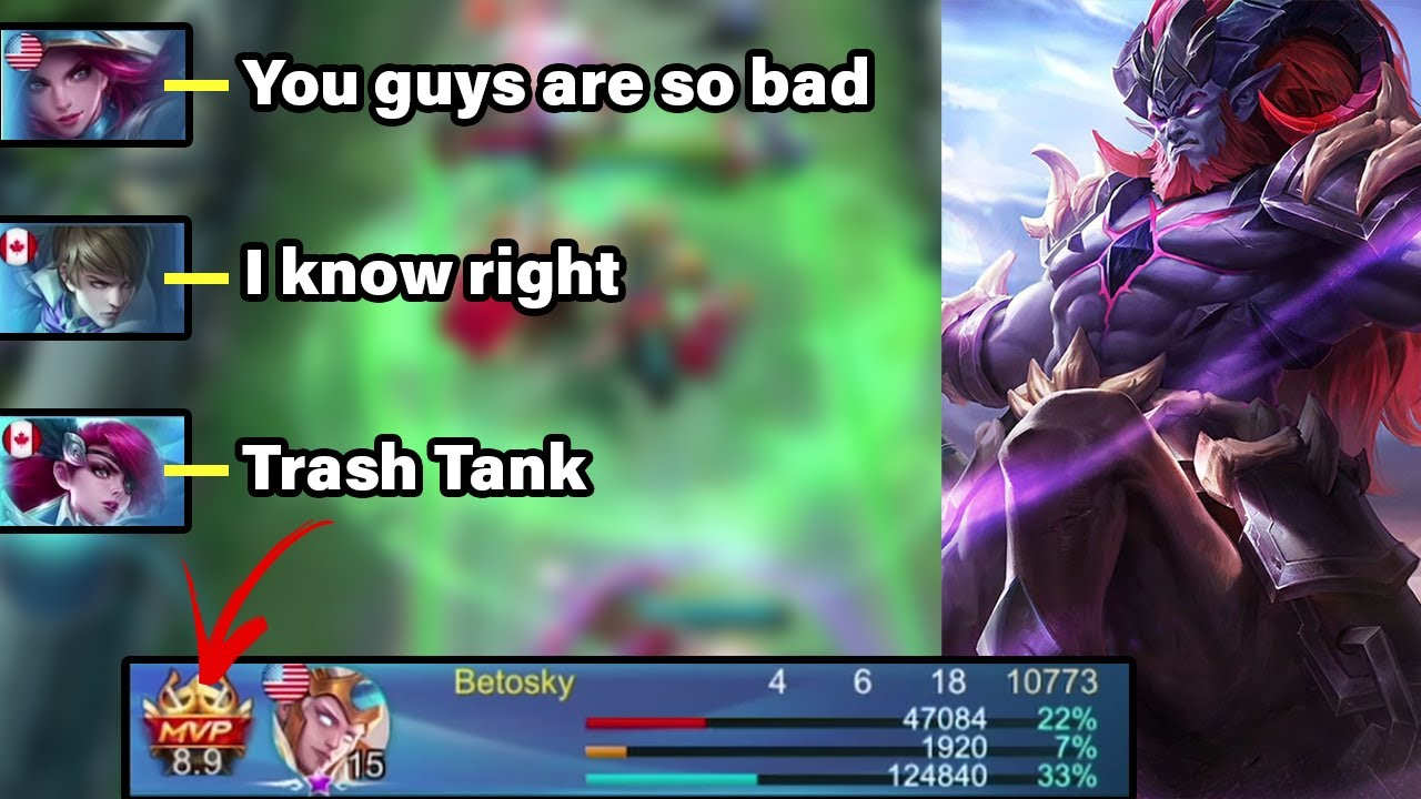 Solo Tanking For A Very Toxic Team | MLBB