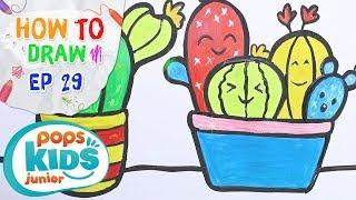 Sắc Màu Tuổi Thơ - Tập 29 - Bé Tập Vẽ Cây Xương Rồng | How To Draw Cactus Decorate Your Baby's room