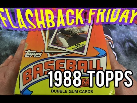 FLASHBACK FRIDAY Featuring 1988 TOPPS