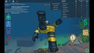 finding all part of the super scuba suit roblox quill lake
