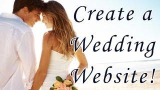 Create a Wedding Website - Step By Step