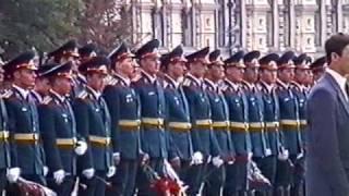 Выпуск офицеров на Красной площади в 1989г. / Russian officers