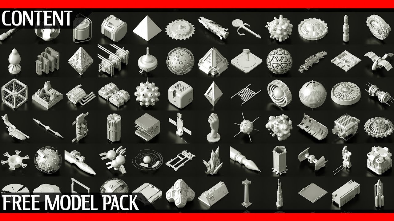 TFMSTYLE Free Asset Pack | 200 + Obj models by The French Monkey &  Observerdoel | Download