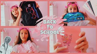 WHAT'S IN MY SCHOOL BAG?! BACK TO SCHOOL💞|| Marica