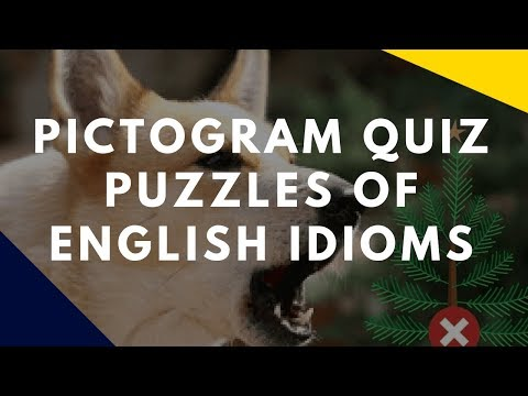 Rebus or Pictogram Quiz Puzzles of English Idioms and Phrases