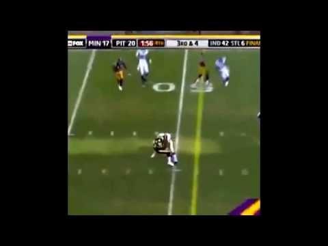Adrain Peterson runs over William Gay