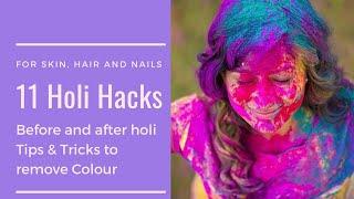 Holi Skin care & Hair care tips| Holi Hacks 2019 | Quick tips for Holi| Manisha Pranay